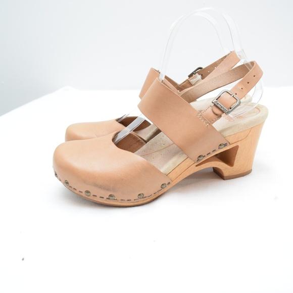 117729a3cd3 Dansko Shoes - Dansko Tan Leather Strappy Sandal Clogs